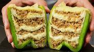 Фото рецепта Перцы фаршированные фаршем, сыром и лавашом. Видео-рецепт