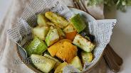 Фото рецепта Цукини и кабачки запечённые в духовке с сыром