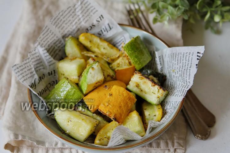 Фото Цукини и кабачки запечённые в духовке с сыром