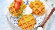 Фото рецепта Овощные безглютеновые вафли