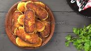 Фото рецепта Постные картофельные зразы с грибами на сковороде. Видео-рецепт