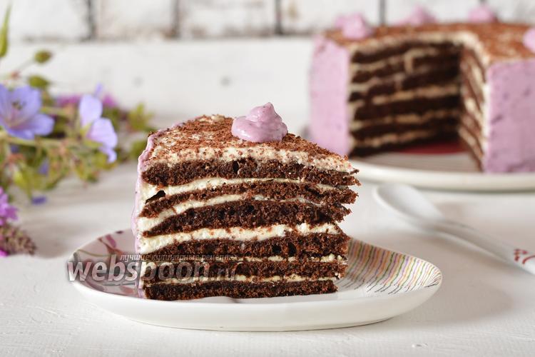 Фото Шоколадный торт на сковороде
