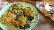 Фото рецепта Горбуша с луком и морковью на сковороде