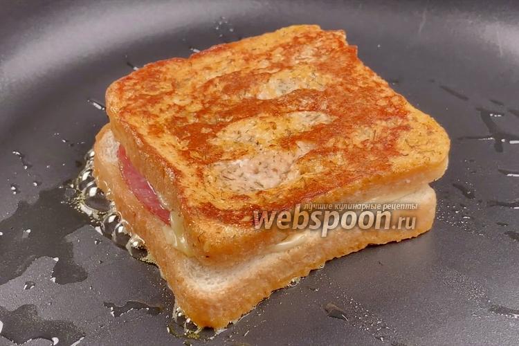 Фото Горячие бутерброды на сковороде. Видео-рецепт