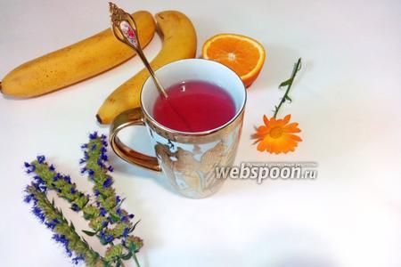 Чай из листьев чёрной смородины с апельсином