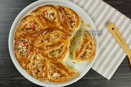 Пирог с Фетой и болгарским перцем. Видео-рецепт видео рецепт