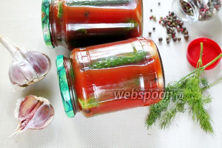 Фото Огурцы в томатной пасте на зиму