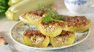 Фото рецепта Лодочки из кабачков с творогом