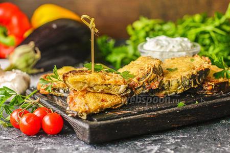 Фото рецепта Запечённые баклажаны с хрустящей корочкой