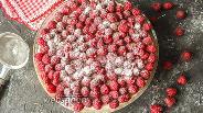 Фото рецепта Тарт с малиной и белым шоколадом