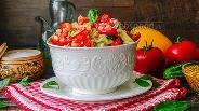 Фото рецепта Салат из свежих овощей и булгура
