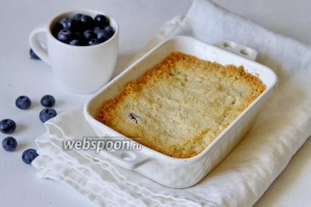 Фото рецепта Крамбл с голубикой