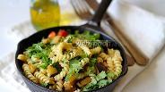 Фото рецепта Паста с баклажанами и зеленью