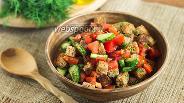 Фото рецепта Салат по-селянски с сухариками