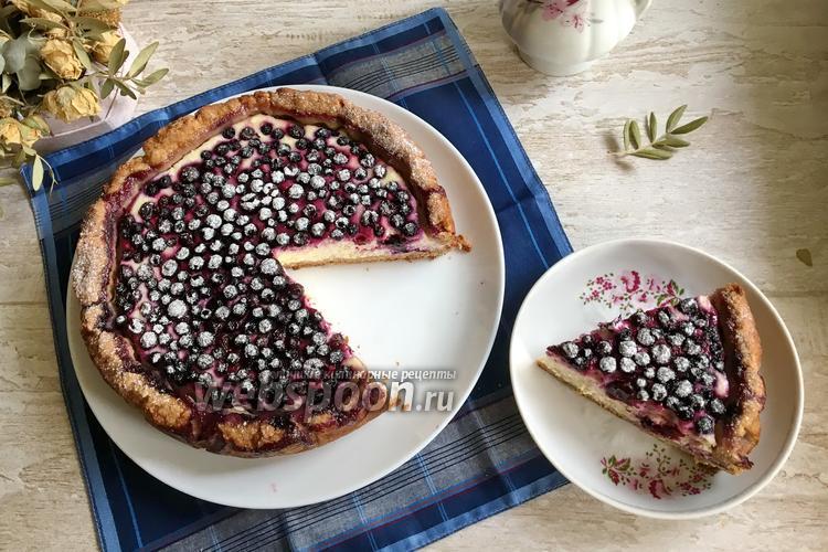 Фото Творожно-черничный пирог