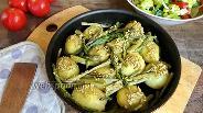 Фото рецепта Печёный картофель со спаржей и чесноком