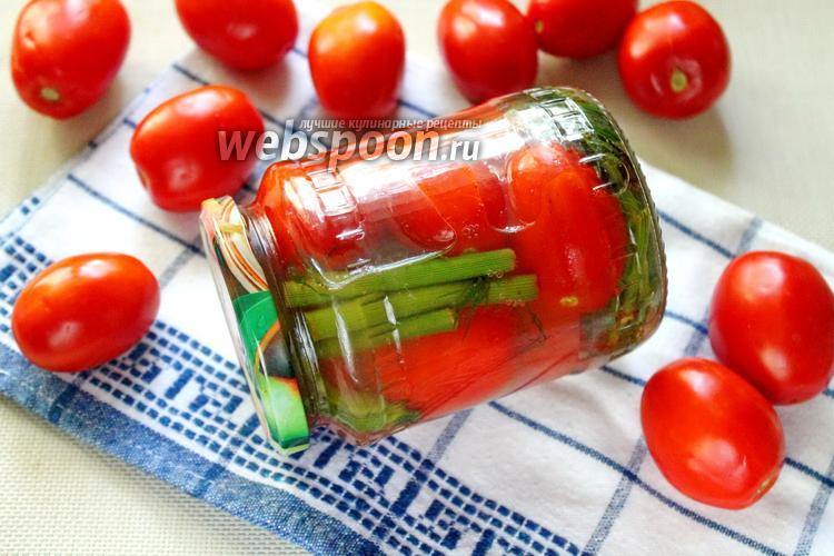 Фото Консервированные помидоры с корицей