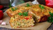 Фото рецепта Кекс с кабачком и сыром с зеленью