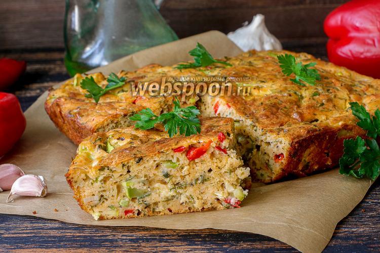Фото Кекс с кабачком и сыром с зеленью