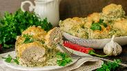 Фото рецепта Гнёзда из кабачков с фаршем