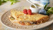 Фото рецепта Овсяноблин с фруктами и сгущённым молоком