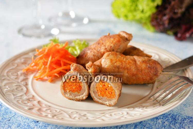 Фото Крученики из свинины с корейской морковкой
