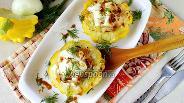 Фото рецепта Патиссоны с мясом в духовке