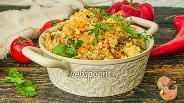 Фото рецепта Булгур с грибами и овощами