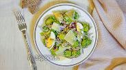 Фото рецепта Тёплый салат с брюссельской капустой