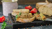Фото рецепта Паштет из куриной печени с чечевицей