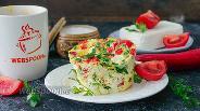 Фото рецепта Омлет в чашке с овощами и Фетой
