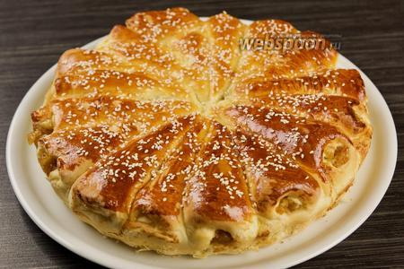 Отрывной пирог с яблоками. Видео-рецепт видео рецепт
