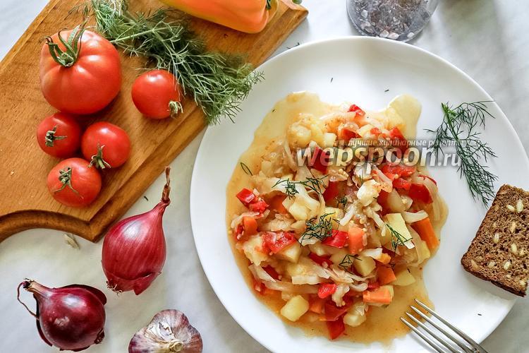 Фото Тушёные овощи в мультиварке