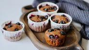 Фото рецепта Шоколадные кексы с голубикой