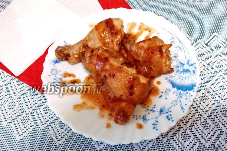 Фото Куриные окорочка в соевом соусе с кумином