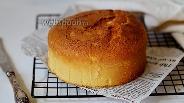 Фото рецепта Бисквит на соевом молоке