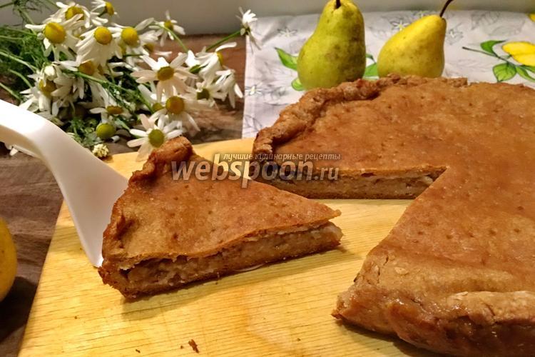 Фото Закрытый пирог с грушей