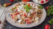 Фото рецепта Салат с кускусом и баклажанами