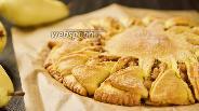 Фото рецепта Отрывной тыквенный пирог с грушей. Видео-рецепт