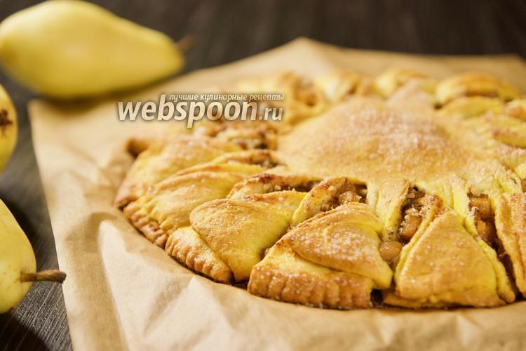 Фото Отрывной тыквенный пирог с грушей. Видео-рецепт