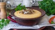 Фото рецепта Кукурузная каша с сыром и жареным луком