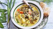 Фото рецепта Зелёный борщ с рисом и щавелем