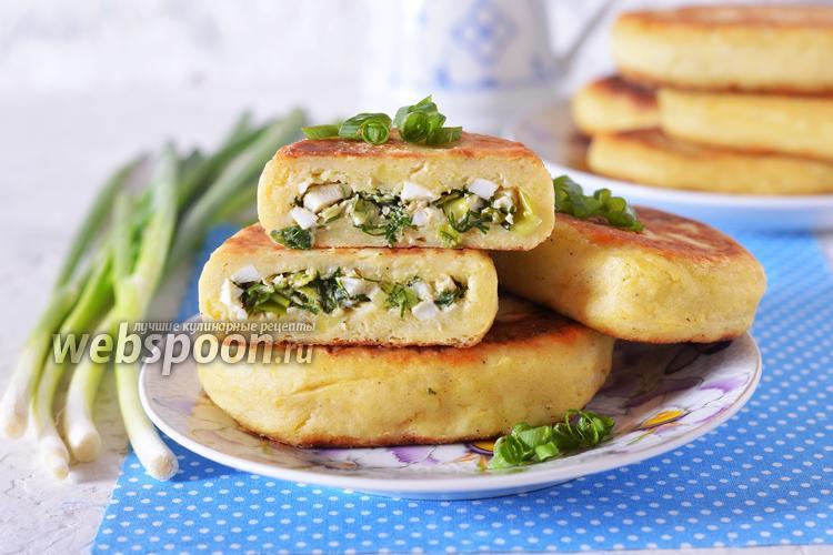 Фото Картофельные зразы с яйцом и луком