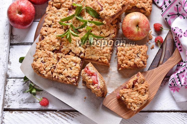 Фото Яблочный пирог «Квадратики»