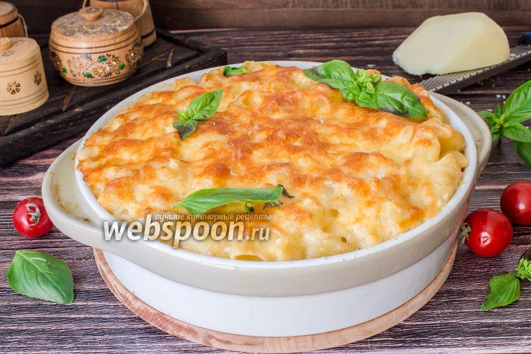 Фото Макароны с соусом бешамель и сыром