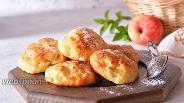 Фото рецепта Творожные булочки с яблоками