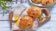 Фото рецепта Булочки с изюмом и апельсиновой глазурью