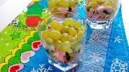 Фото рецепта Фруктовый салат с бананом, киви и яблоком в стакане