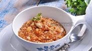 Фото рецепта Гречка с грибами в тыквенном соусе