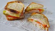 Фото рецепта  Сытный бутерброд для перекуса